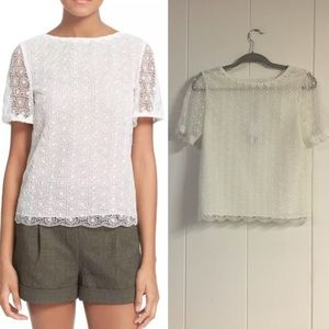 *NWT* DVF Lace Blouse